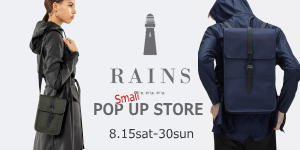 RAINS Small POP UP STORE